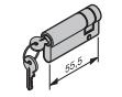 Profil-Halbzylinder, 45,5 + 10 mm