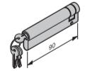 Profil-Halbzylinder, 80 + 10 mm