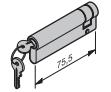 Profil-Halbzylinder, 65,5 + 10 mm