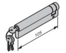 Profil-Halbzylinder, 95 + 10 mm