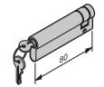 Profil-Halbzylinder, 70 + 10 mm