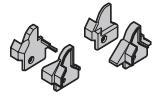 Set: Fingerschutzkappen für Schlupftür (mit Schrauben)