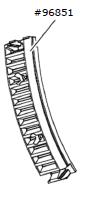 Zahnstangensegment (3er-Set) Parc 200