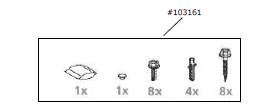 Zubehörtüte Schrauben Comfort 525 / 530